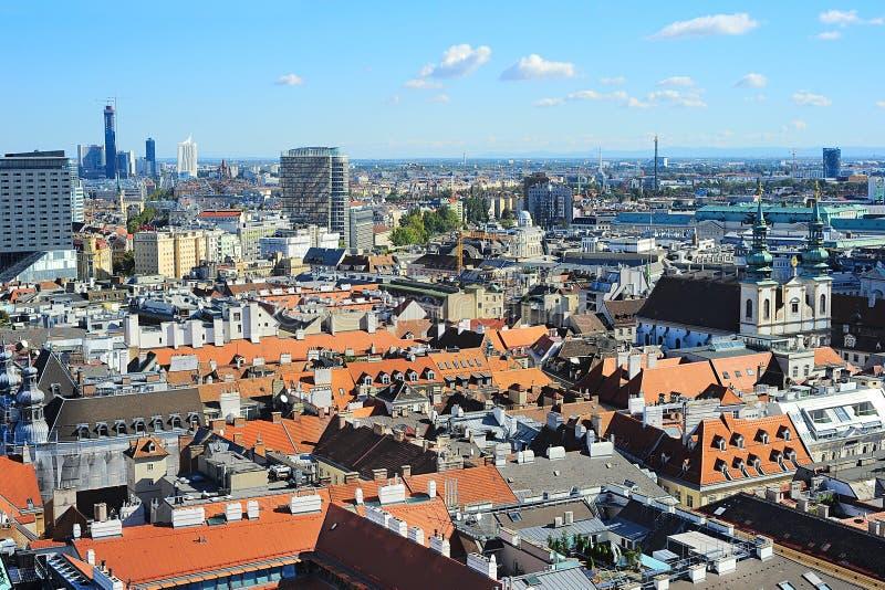 Городской пейзаж вены, Австрия стоковая фотография rf