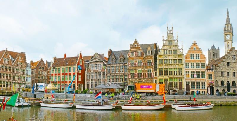 Городской пейзаж Гента стоковое фото
