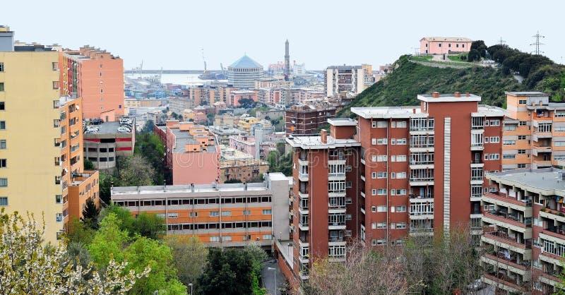 Городской пейзаж Генуи стоковая фотография