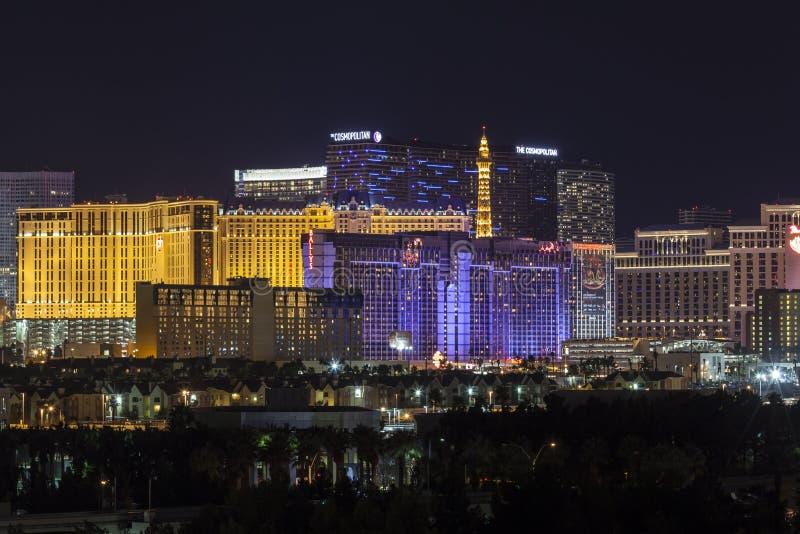 Городской пейзаж горизонта Лас-Вегас стоковая фотография rf