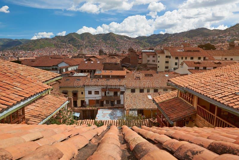 Городской пейзаж города cusco стоковое изображение