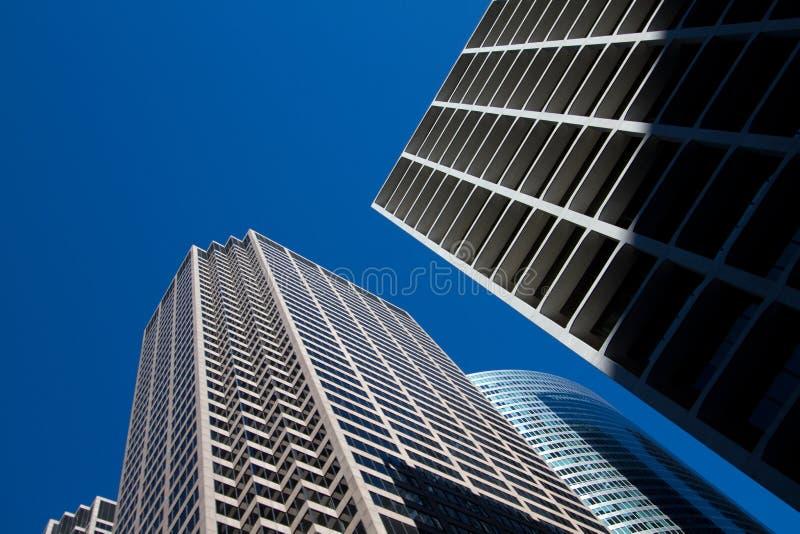Городской пейзаж городского Чикаго современный и старый зданий стоковое изображение rf