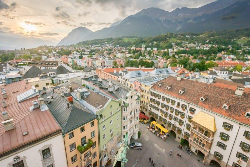 Городской пейзаж Инсбрука стоковое фото rf