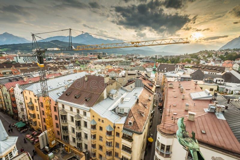 Городской пейзаж Инсбрука стоковая фотография
