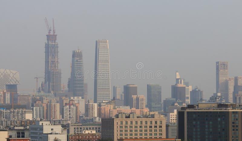 Городской пейзаж Китай финансового района Пекина стоковые изображения rf