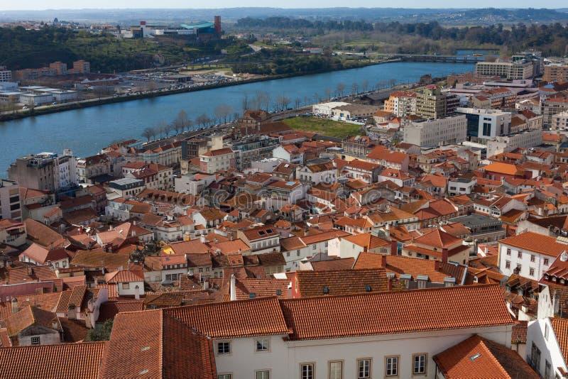 Городской пейзаж Коимбры, Португалии стоковое изображение rf