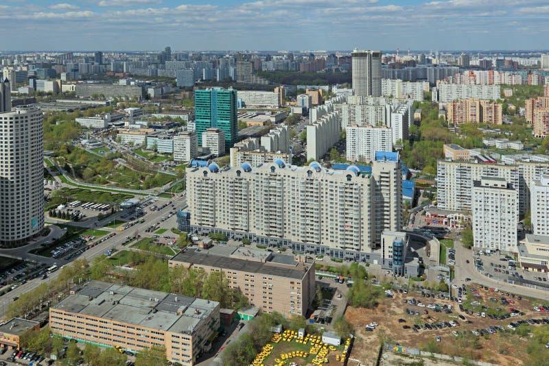 Городской пейзаж Москвы стоковая фотография