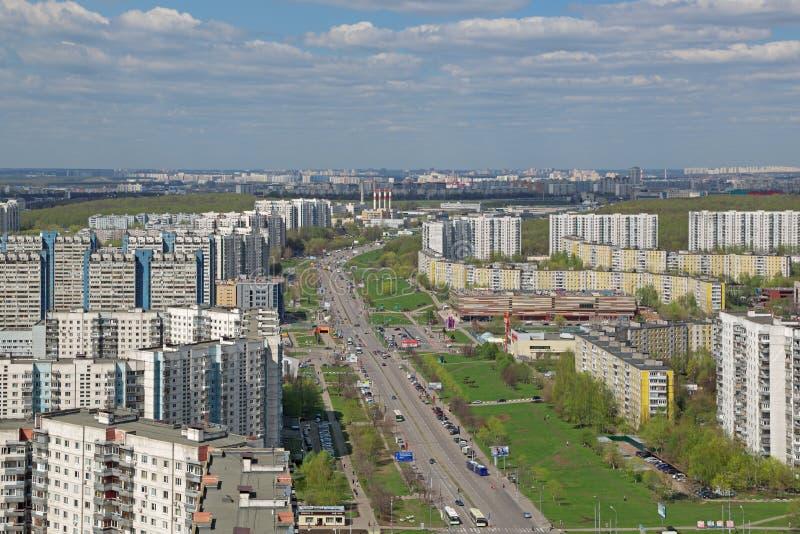 Городской пейзаж Москвы стоковые изображения