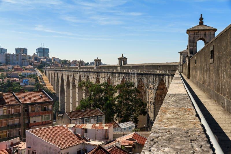 Городской пейзаж мост-водовода стоковые фотографии rf