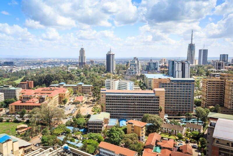 Городской пейзаж Найроби - столица Кении стоковые фото