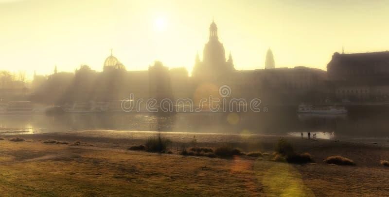 Раннее утро в Дрездене стоковая фотография rf