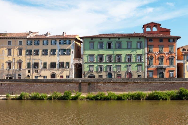 Городской пейзаж Пизы, Италии стоковые фотографии rf