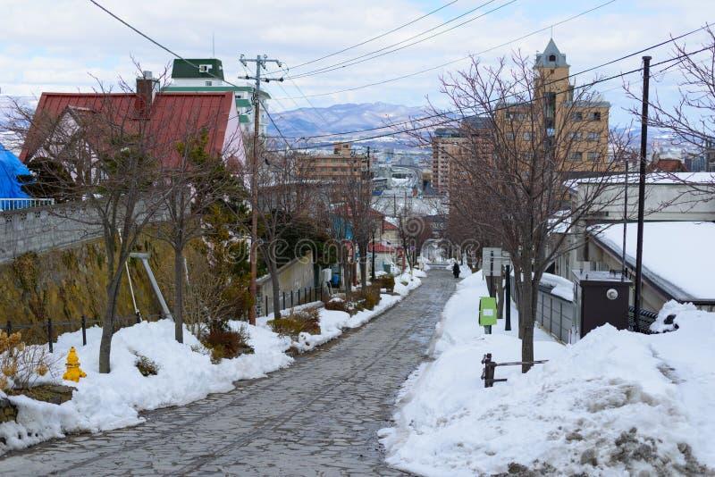 Городской пейзаж района Motomachi в Hakodate, Хоккаидо стоковая фотография rf