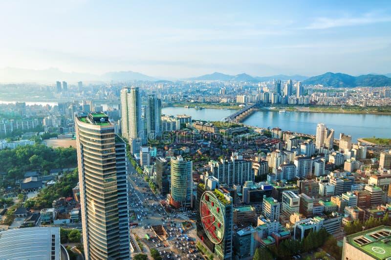 Городской пейзаж Сеула стоковые фото