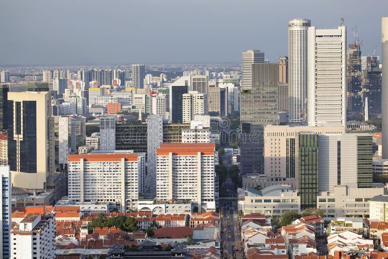 Городской пейзаж Сингапура с Чайна-тауном стоковое изображение