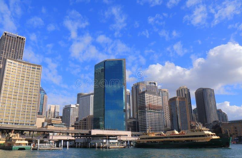 Городской пейзаж Сидней Австралия круговой набережной городской стоковая фотография