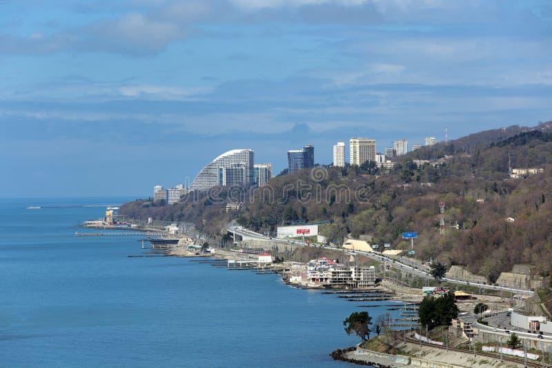 Городской пейзаж Сочи стоковое изображение rf