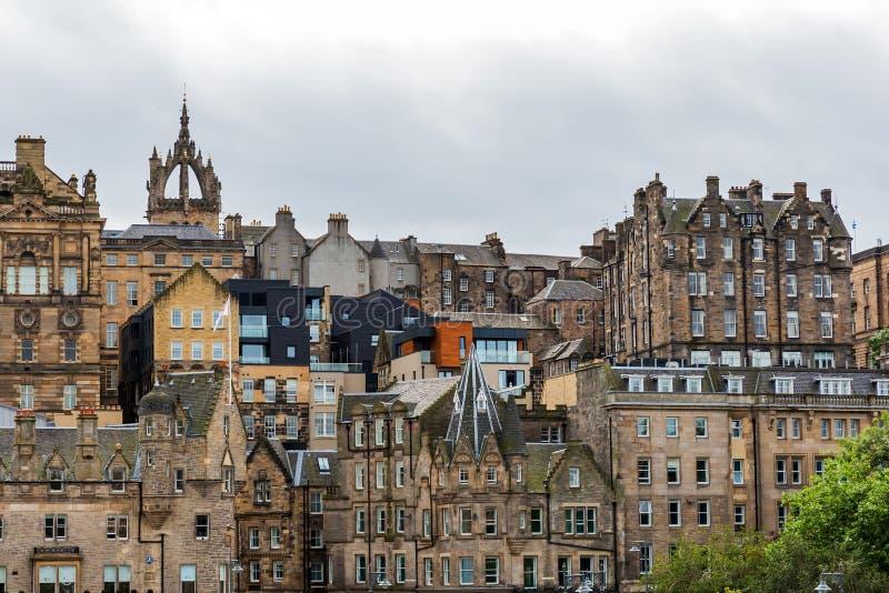 Городской пейзаж старого городка Эдинбурга стоковые фото