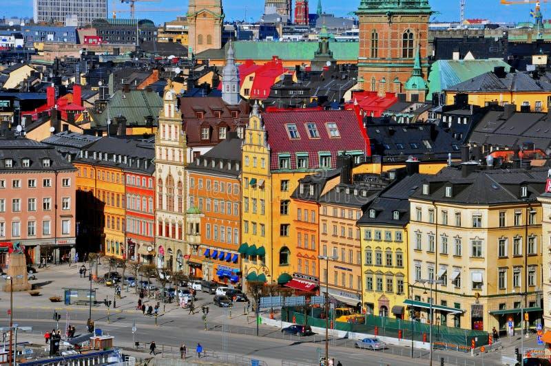 Городской пейзаж Стокгольма стоковое фото rf
