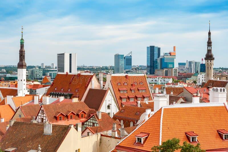 Городской пейзаж Таллина эстония стоковая фотография