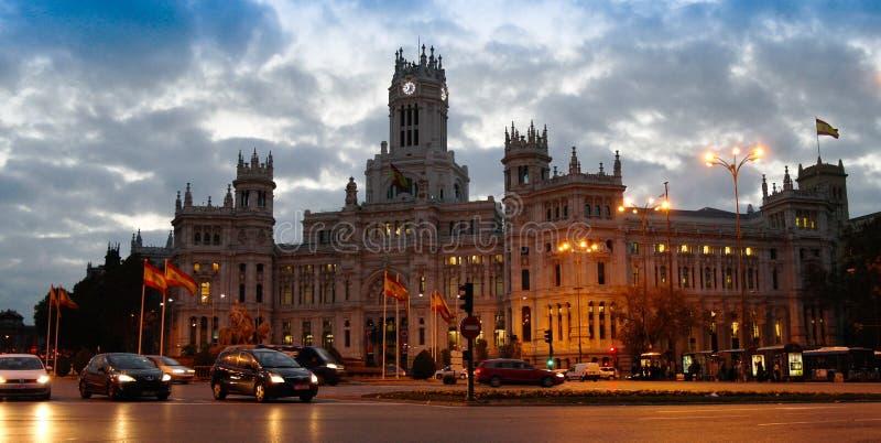 Городской пейзаж утра Мадрида, Испании стоковые изображения