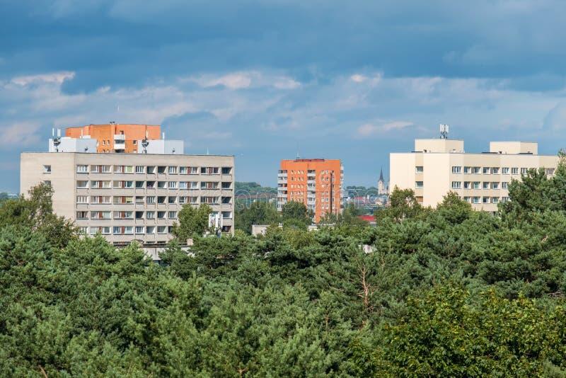 городской пейзаж эстония tallinn Эстония, EC стоковое изображение