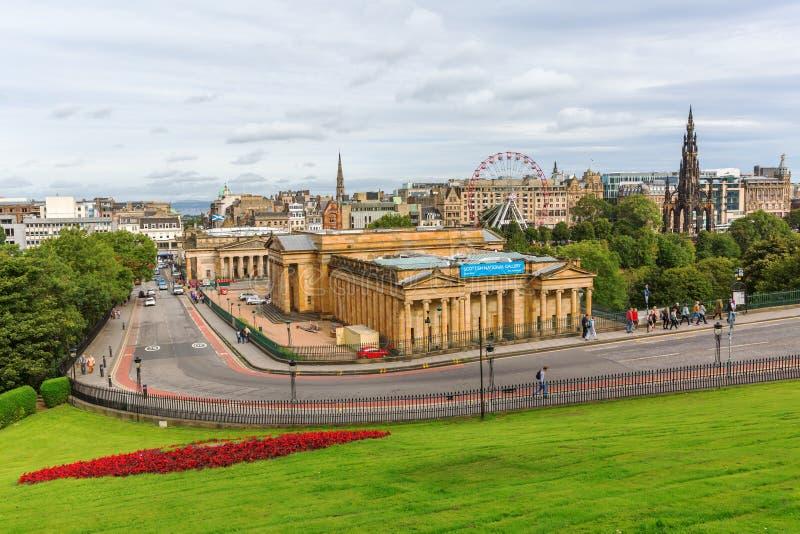 Городской пейзаж Эдинбурга, Шотландии стоковое фото rf