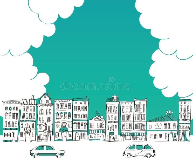 Городской пейзаж иллюстрация вектора