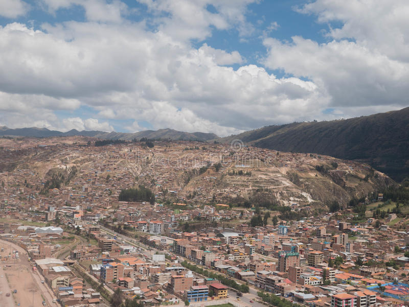 Городской пейзаж Cusco в Перу стоковое фото rf