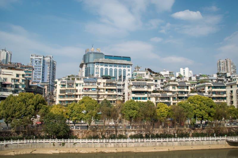 Городской пейзаж Guiyang, фарфор стоковое изображение