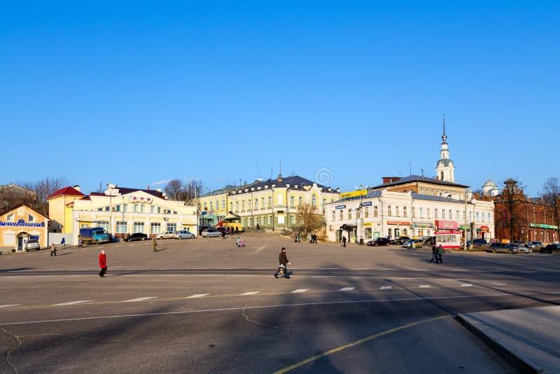 Городской пейзаж Kineshma, Россия стоковые изображения rf
