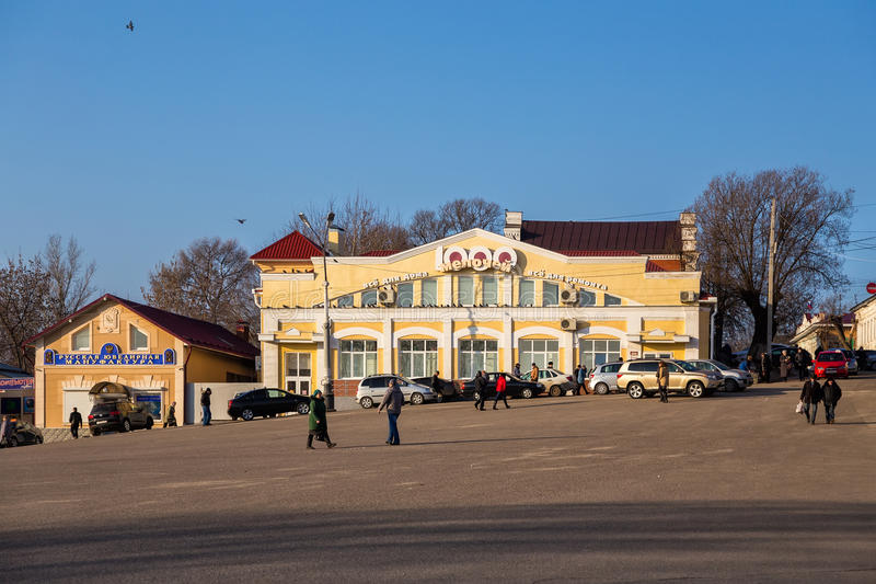 Городской пейзаж Kineshma, Россия стоковые изображения