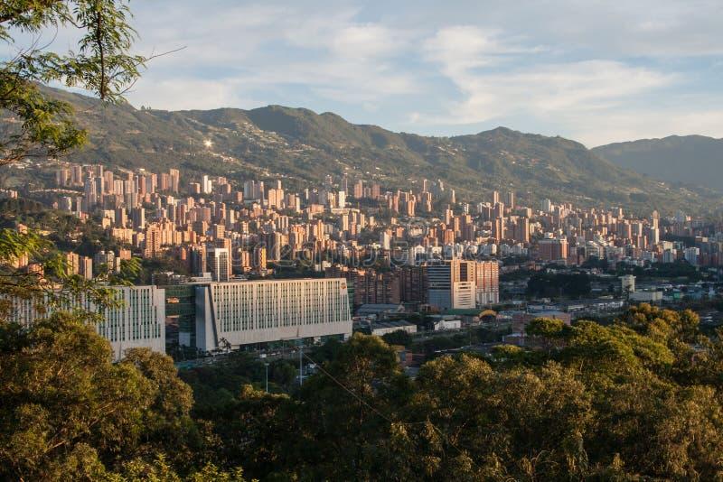 Городской пейзаж Medellin стоковое изображение rf