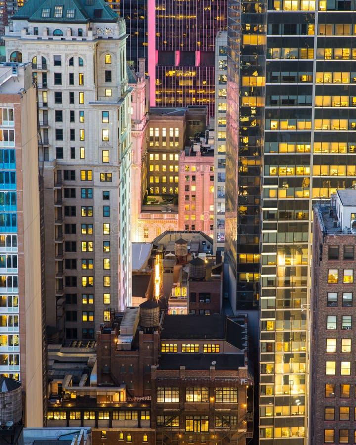 Городской пейзаж NYC стоковое фото