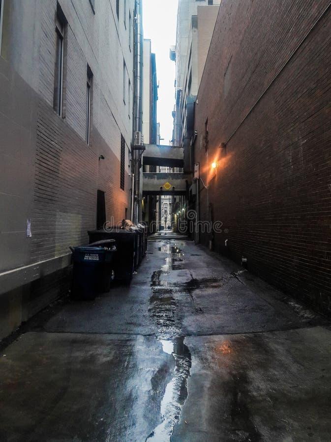 Городской переулок Денвера стоковые фото