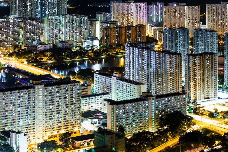 Download Городской район в Гонконге стоковое фото. изображение насчитывающей олово - 33737310