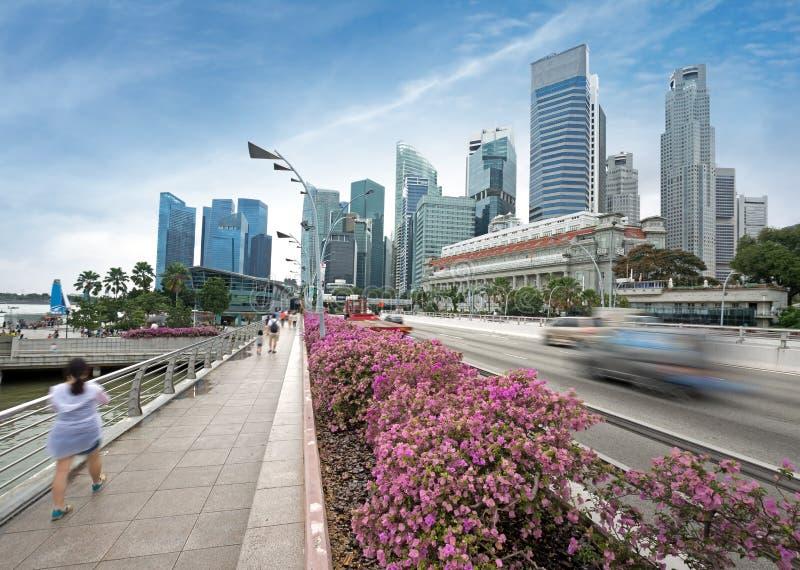 Городской транспорт в Сингапуре стоковое изображение