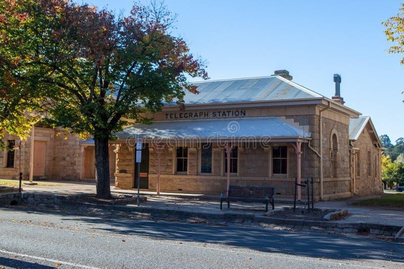 Городской центр Beechworth стоковое фото rf