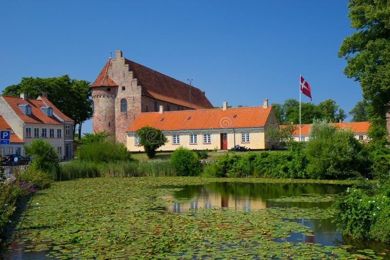 Городской центр Nyborg, Дания стоковое изображение
