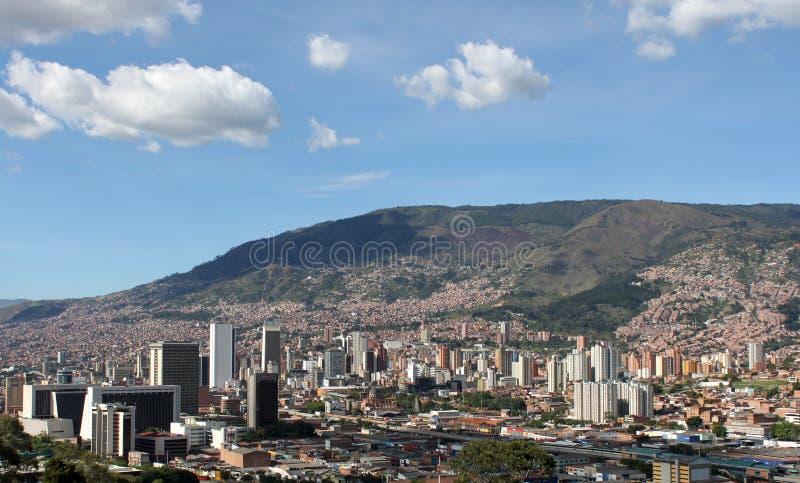 городской medellin Колумбия Здания Ландшафт стоковое изображение rf