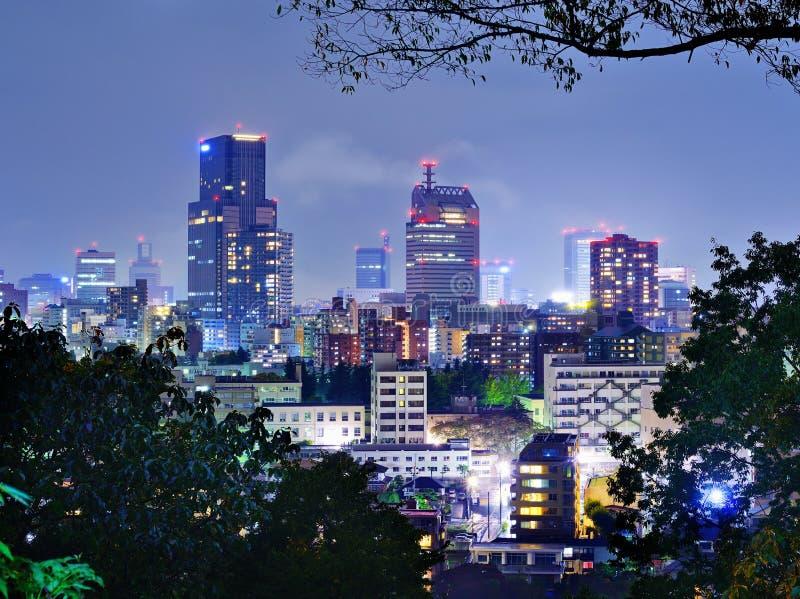 Городской Sendai, Япония стоковое фото rf