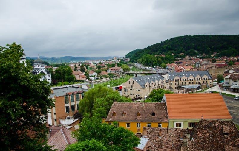 город старая Румыния brasov разбивочный стоковое фото
