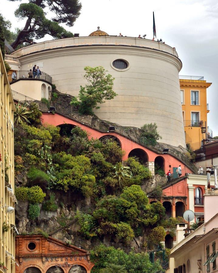 Город славного - архитектура холма замка стоковая фотография rf