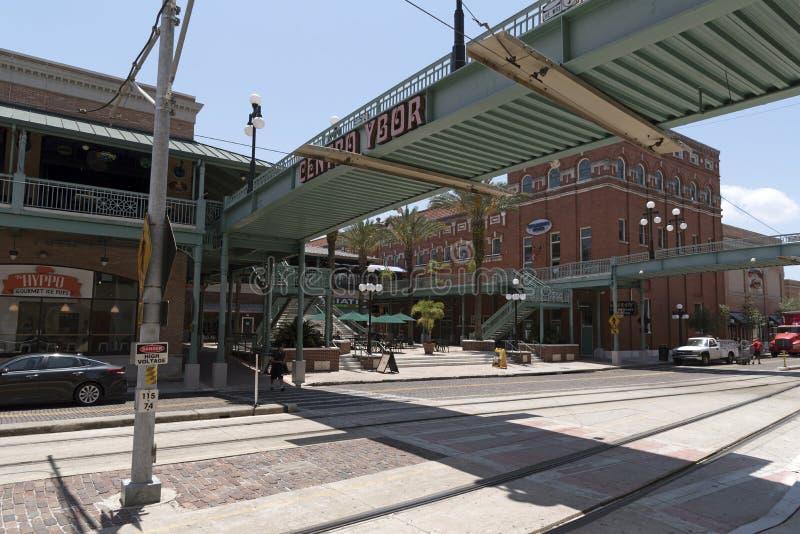Город Тампа Флорида США Ybor стоковые фото