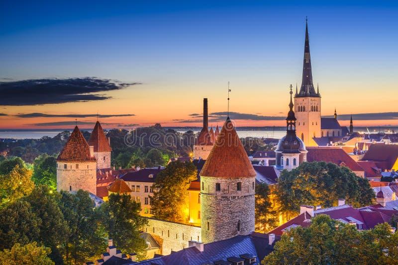Город Таллина Эстонии старый стоковое изображение
