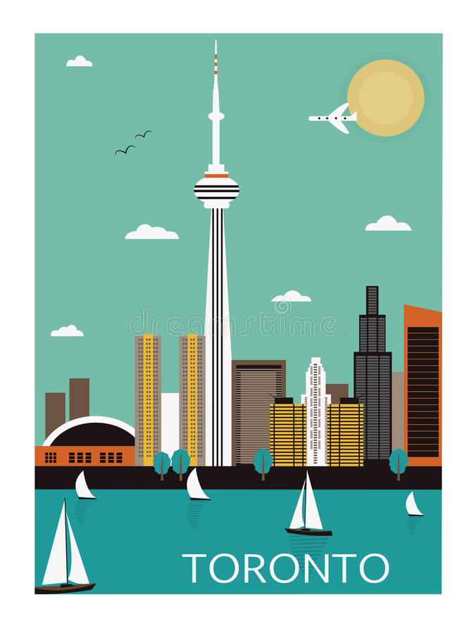 Торонто. Канада. иллюстрация штока