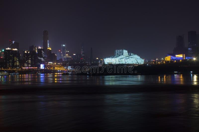Город Чунцина на ноче стоковая фотография