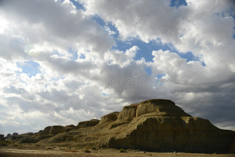 Город дьявола в Синьцзян-Уйгурский автономный район стоковые изображения rf