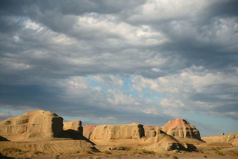 Город дьявола в Синьцзян-Уйгурский автономный район стоковая фотография rf