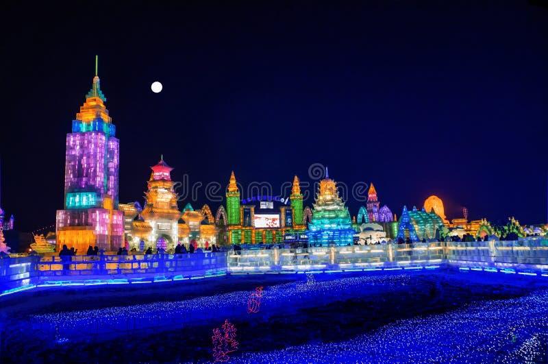 Город льда Харбин стоковые фотографии rf